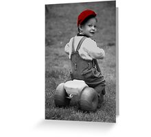 Boy in Red Cap Greeting Card