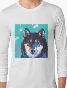 Shiba Inu Bright colorful pop dog art Long Sleeve T-Shirt