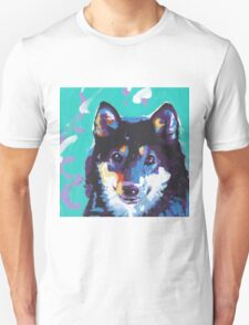 Shiba Inu Bright colorful pop dog art T-Shirt