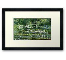 Mo Monet Framed Print