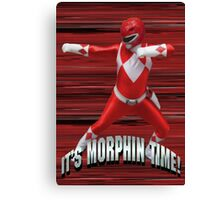 Mighty Morphin Red Ranger - It's Morphin Time! Canvas Print
