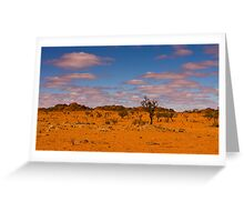 Coober Pedy Landscape. Greeting Card