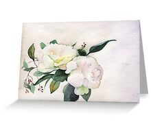 Peony flower Greeting Card