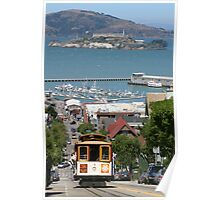 Cable Car and Alcatraz Poster