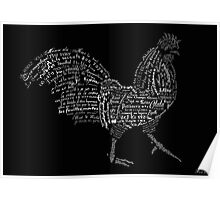 Typographic rooster Poster