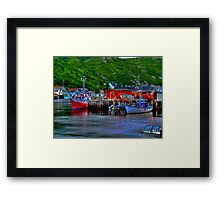 Ships in THe Harbour Framed Print