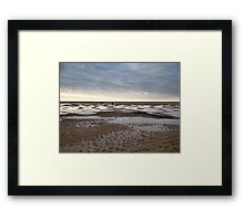 Empty beach, evening Framed Print