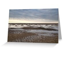 Empty beach, evening Greeting Card