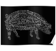Typographic pig Poster