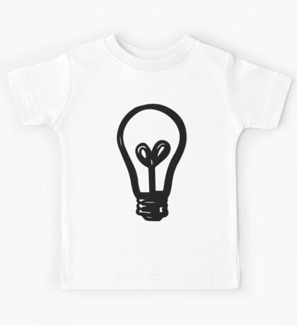 Light Bulb - Black Ink Kids Tee