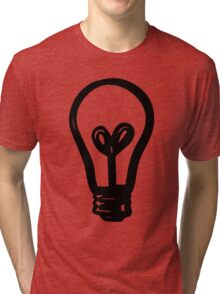 Light Bulb - Black Ink Tri-blend T-Shirt