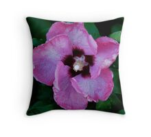 Textured Pink Throw Pillow