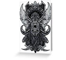 Viking Death Greeting Card
