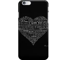 Typographic multi language I love you heart iPhone Case/Skin