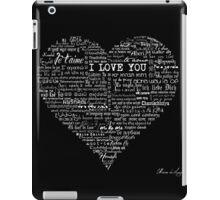 Typographic multi language I love you heart iPad Case/Skin