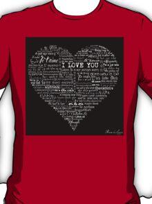 Typographic multi language I love you heart T-Shirt