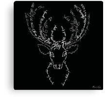 Deer stag antlers typographic Canvas Print
