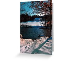 River across winter wonderland | landscape photography Greeting Card