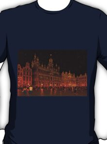 Grand Place at Night, Brussels, Belgium T-Shirt
