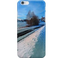 The end of the railroad II | landscape photography iPhone Case/Skin