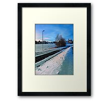 The end of the railroad II | landscape photography Framed Print
