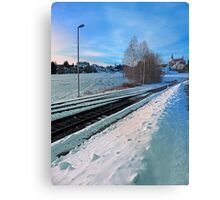 The end of the railroad II | landscape photography Metal Print