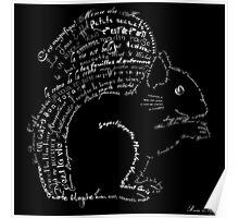 Typographic squirrel Poster