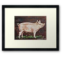 Hog Framed Print