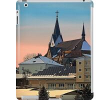 Winter scenery with village skyline | architectural photography iPad Case/Skin