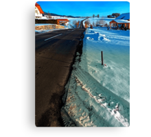 Winter road into far distance | landscape photography Canvas Print
