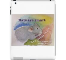 Rats Are Smart iPad Case/Skin
