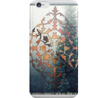 filigree and forest - papercut pattern iPhone Case/Skin