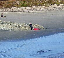 Autumn in Rhode Island | Ocean Views - Surfer Resting by Jack McCabe
