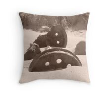Tracks from the Past Throw Pillow
