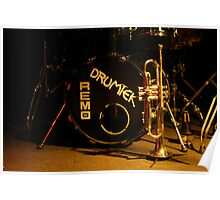 brass, drums and jazz Poster