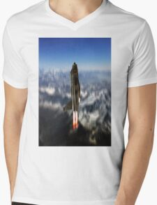 Lightning Missile Mens V-Neck T-Shirt