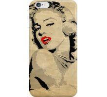 Marilyn Monroe 3 Colour (Aged) iPhone Case/Skin