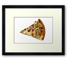 Spicy Pizza Slice Framed Print