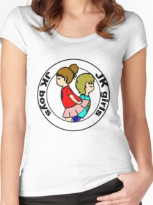 """Boys and Girls "" ( black layer ) Women's Fitted Scoop T-Shirt"