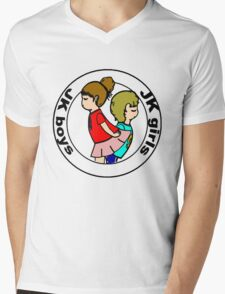 """Boys and Girls "" ( black layer ) Mens V-Neck T-Shirt"