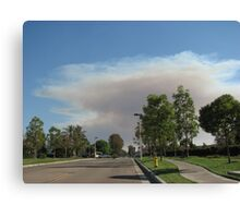 Smoke in the sky Canvas Print