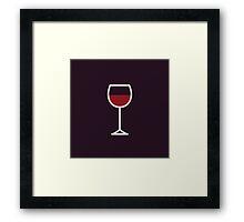 Wine Icon - Drinks Series Framed Print