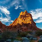 Dusk Falling Over the Valley of Fire by photosbyflood