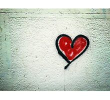 Heart Graffiti Photographic Print