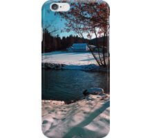 River across winter wonderland | landscape photography iPhone Case/Skin