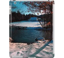 River across winter wonderland | landscape photography iPad Case/Skin