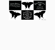 Geometrical butterflies black white Unisex T-Shirt