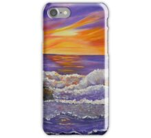 Purple Ocean abstract ocean sunset painting iPhone Case/Skin