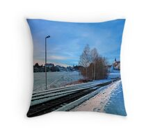 The end of the railroad II | landscape photography Throw Pillow
