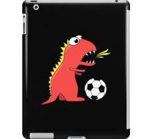 Funny Cartoon Dinosaur Soccer Dark Shirt iPad Case/Skin